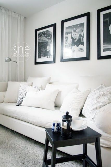 black and white framed photos over couch home living on beautiful modern black white living room inspired id=88544