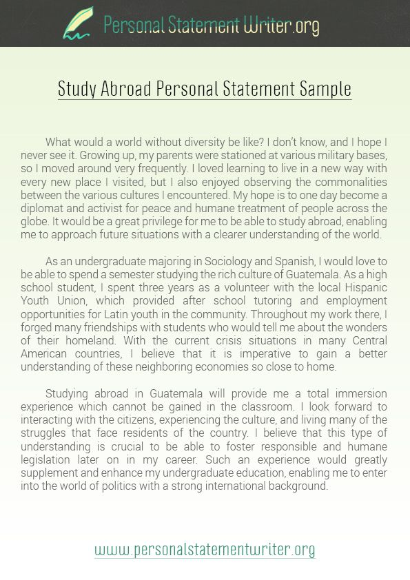 Pin by Personal Statement Writer on Study Abroad Personal