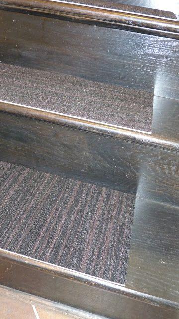 DIY Carpet Tile Stair Treads