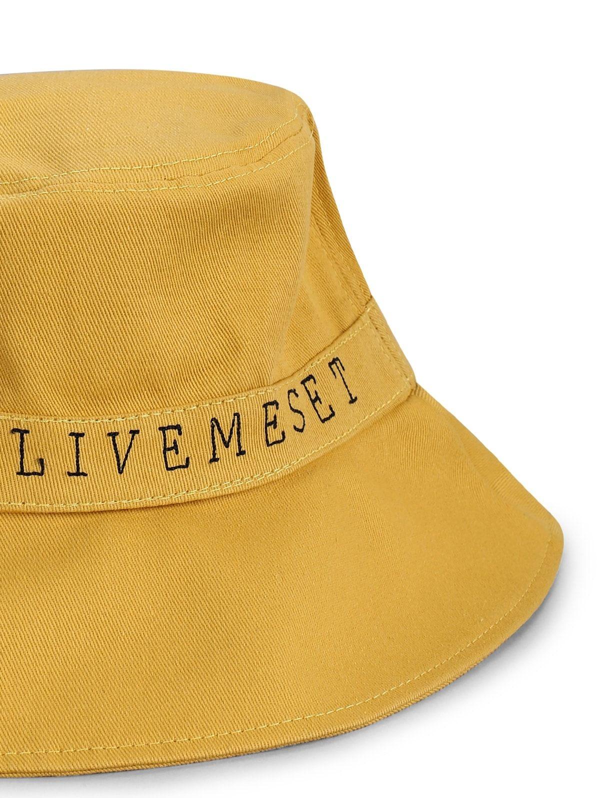 Plain Letter Print Bucket Hat Beige Black Light Khaki Yellow Letter Prints Women Accessories Hats Hat Types