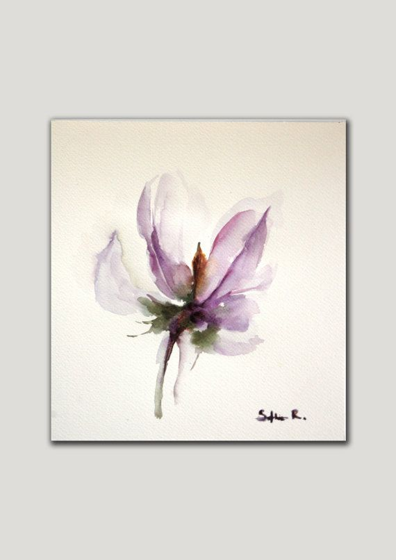 Original Watercolor Minimalist Abstract Painting By Sophierr