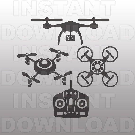 Drone Svg File Quadcopter Svg File Quad Svg File Vector