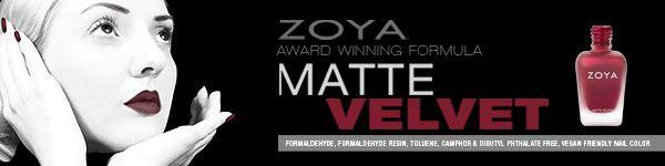 Zoya Matte Velvet Fall Nail Polish Collection