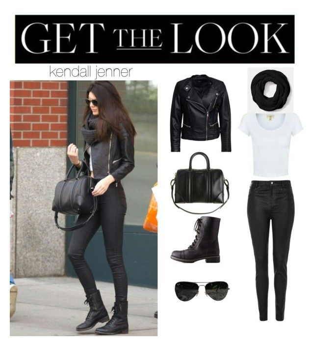 """""""get the look: kendall jenner"""" by jennifermendoza10 ❤ liked on Polyvore featuring Topshop, Sisters Point, Coach, Charlotte Russe and Ray-Ban"""