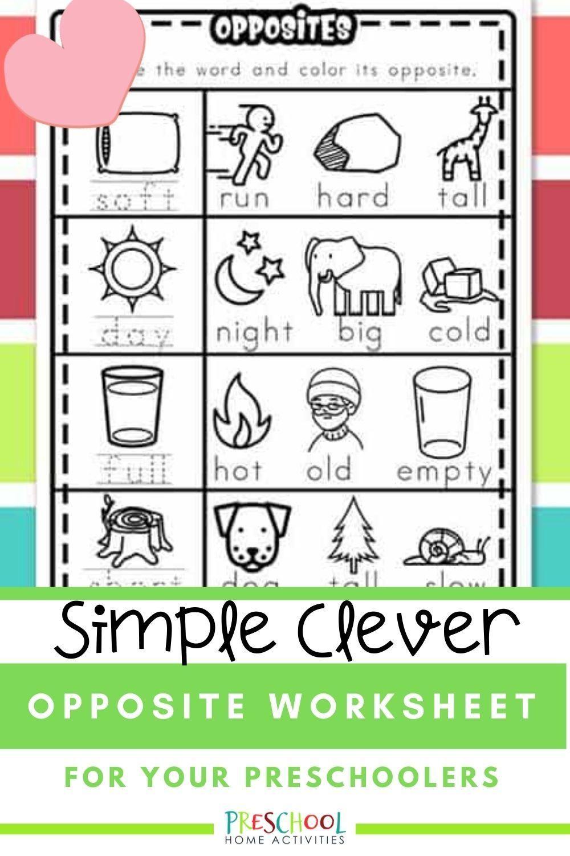 Opposites Worksheet Preschool Activities Today S Free Printable Are Preschool Opposite Works Video Opposites Worksheet Opposites Preschool English Lessons For Kids [ 1500 x 1000 Pixel ]