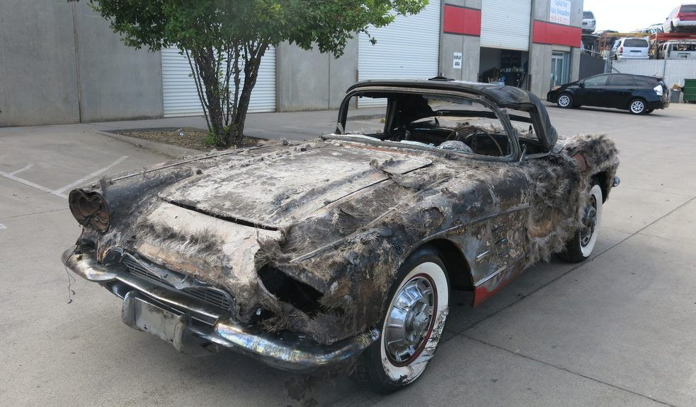It\'s a Write Off: 1961 Chevy Corvette - http://barnfinds.com/its-a ...