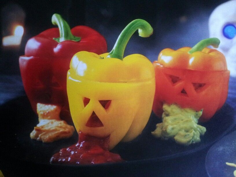 Hallowe\u0027en peppers and dip from Asda Magazine - love it! Holiday - asda halloween decorations