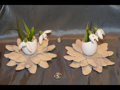 blumen einfach basteln flowers easy to make aus eierkarton wohn und tischdeko youtube. Black Bedroom Furniture Sets. Home Design Ideas