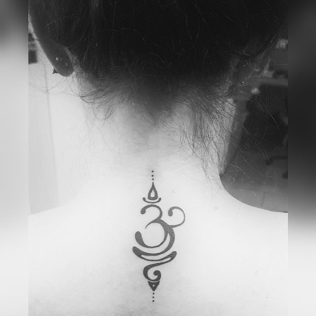 Om Symbol Tattoo Meaning 'Breathe' Namaste. Symbolic