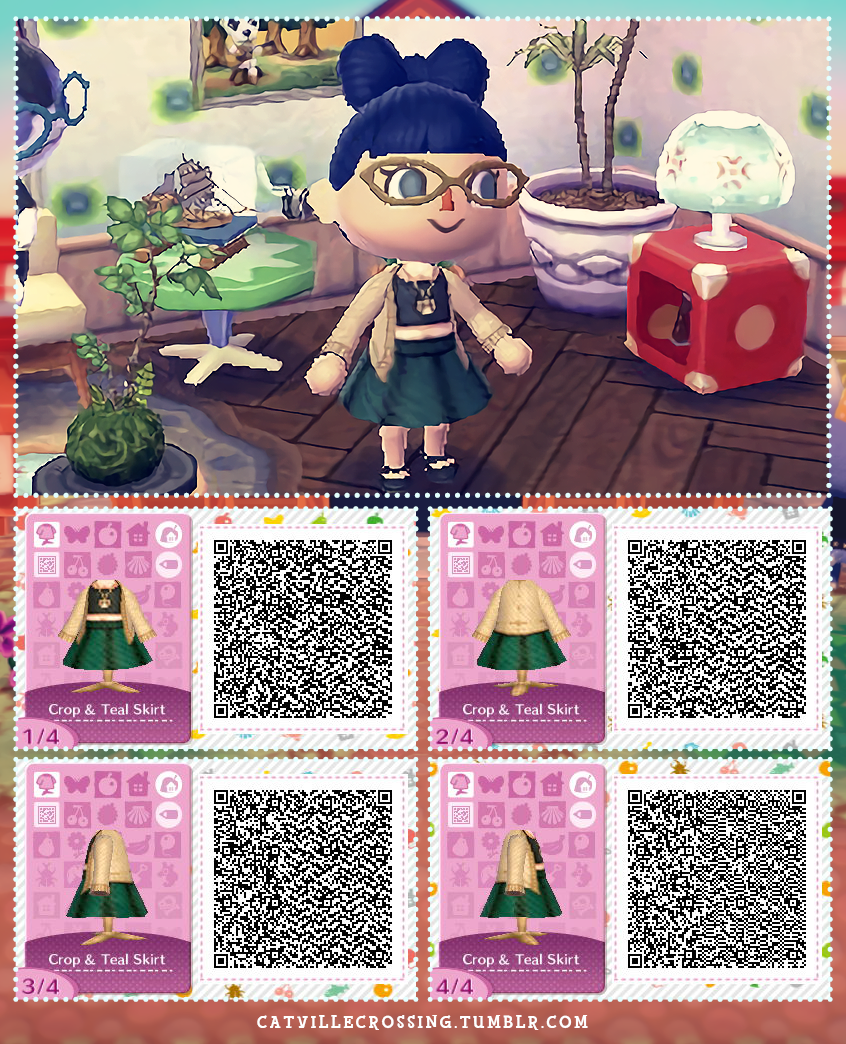 Catvillecrossing requested fashion crop top and for Animal crossing new leaf arredamento
