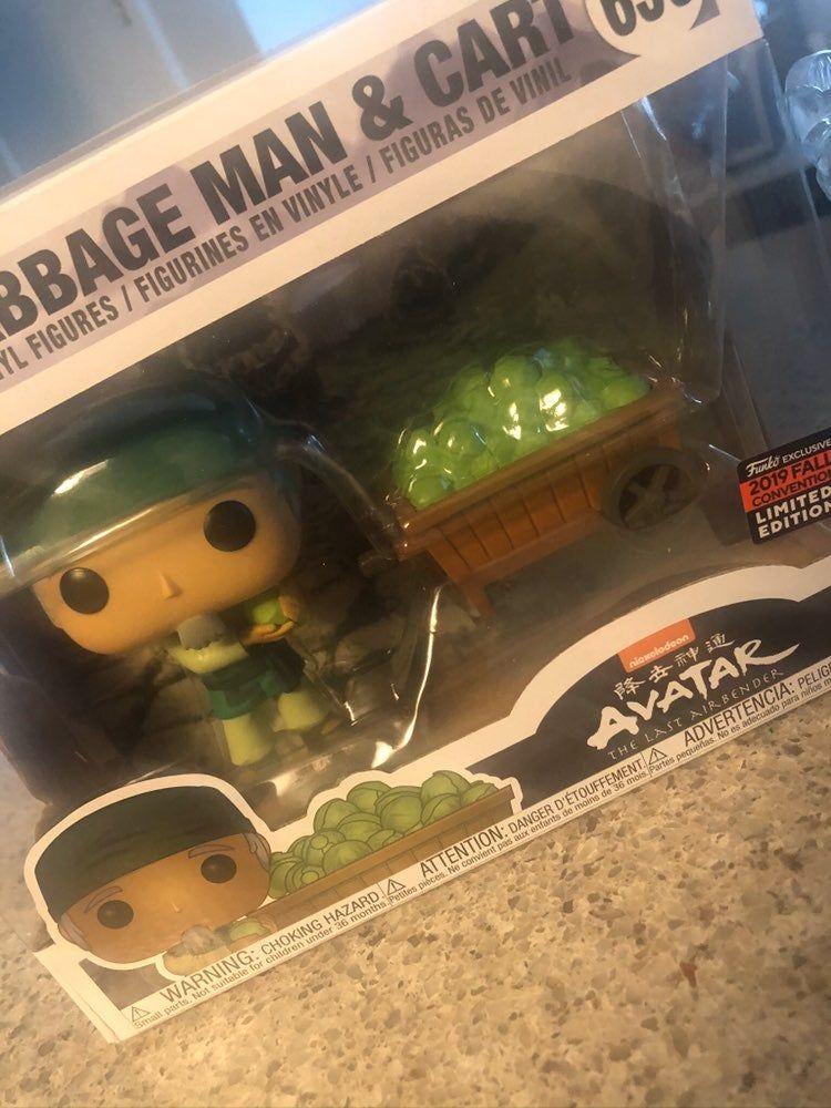 Cabbage Man Funko Pop : cabbage, funko, Funko, Avatar, Cabbage, Cart., Airbender,, Funko,, Airbender