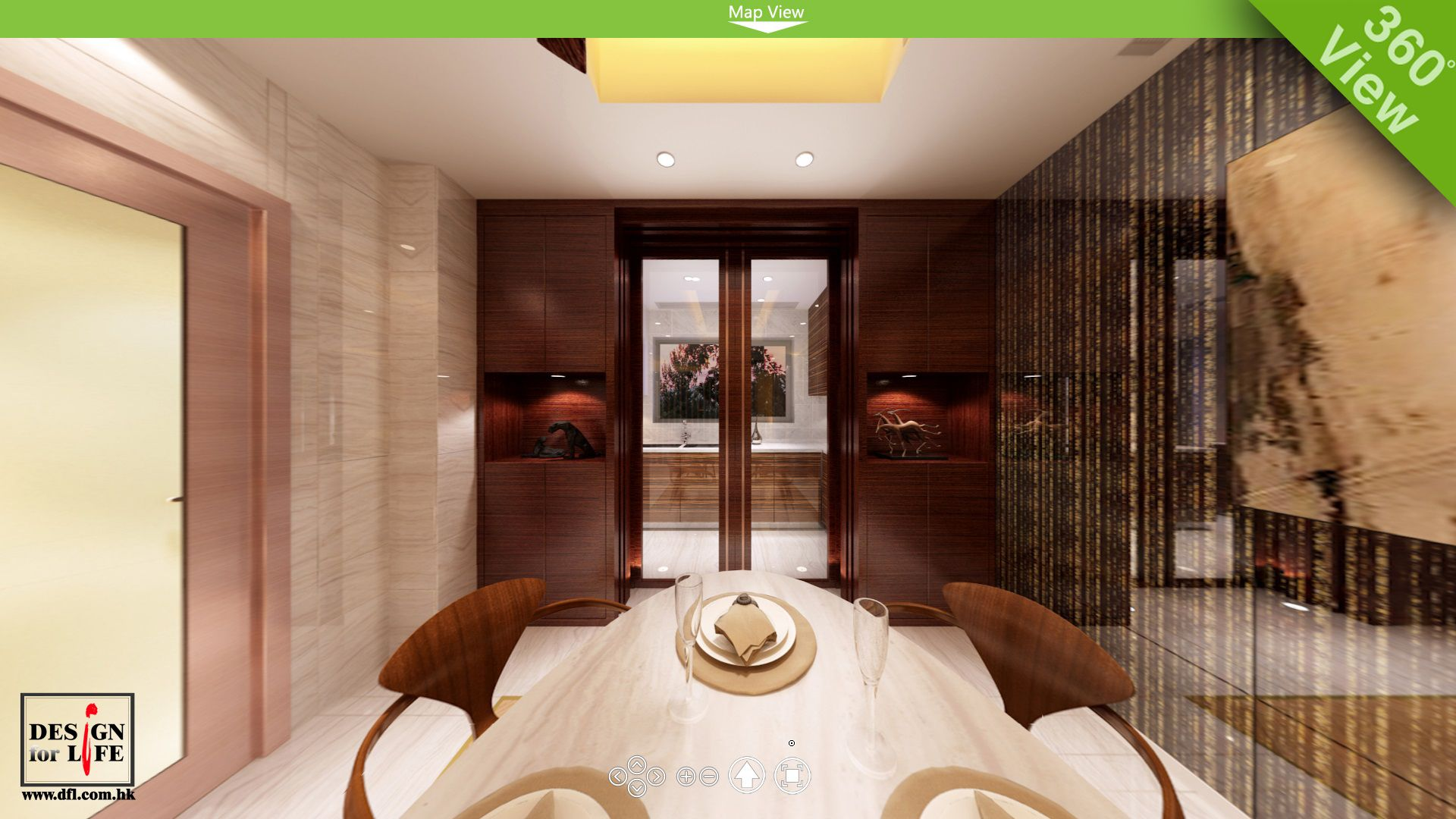 Interior design home projects - Project The Green Of Hong Kong 360rendering Dinning Area Interior Design Home