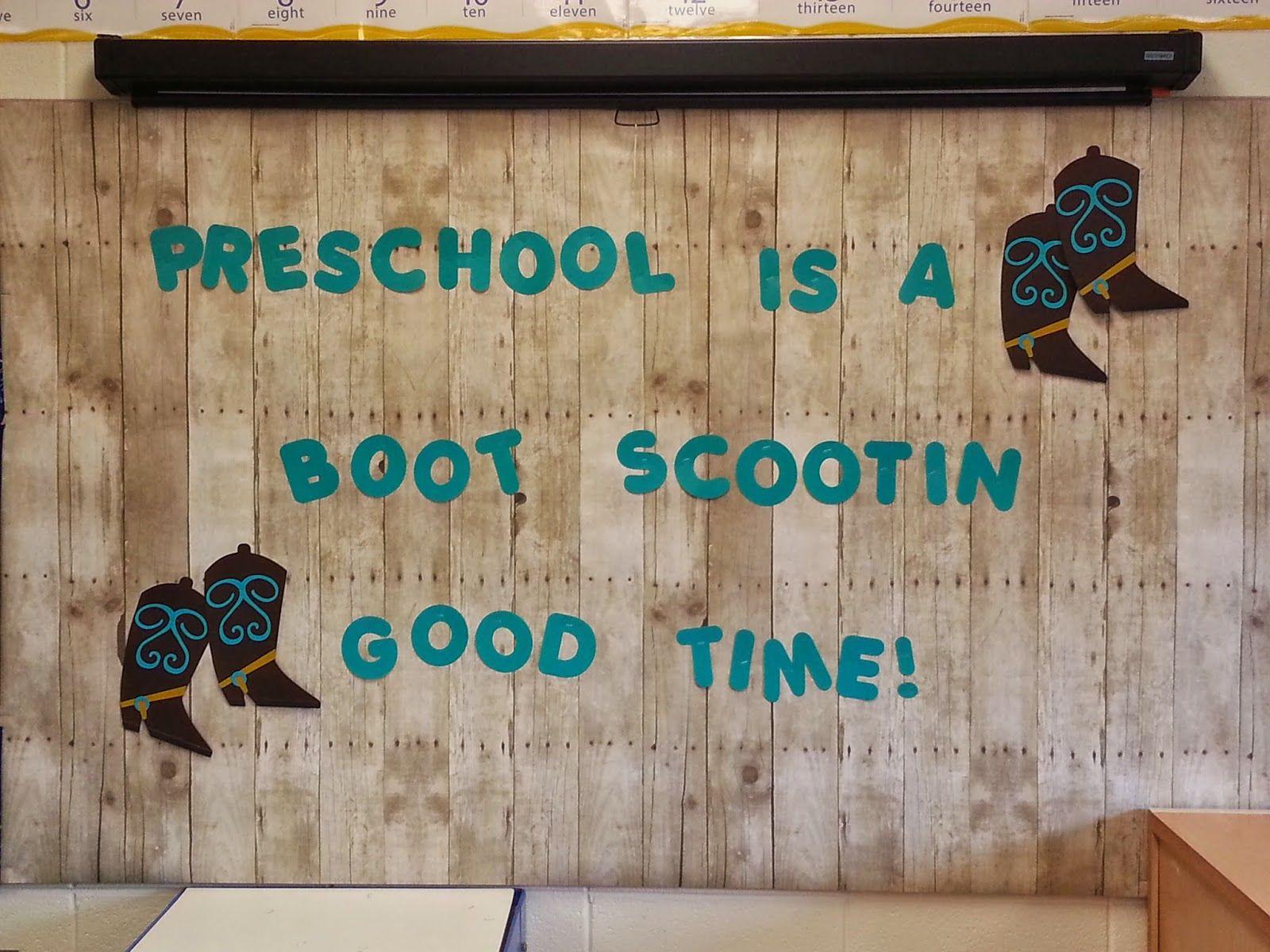 Western Theme Back To School Preschool Bulletin Board