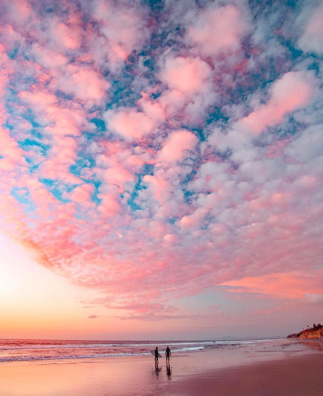 Blue And Pink Aesthetic Sunset