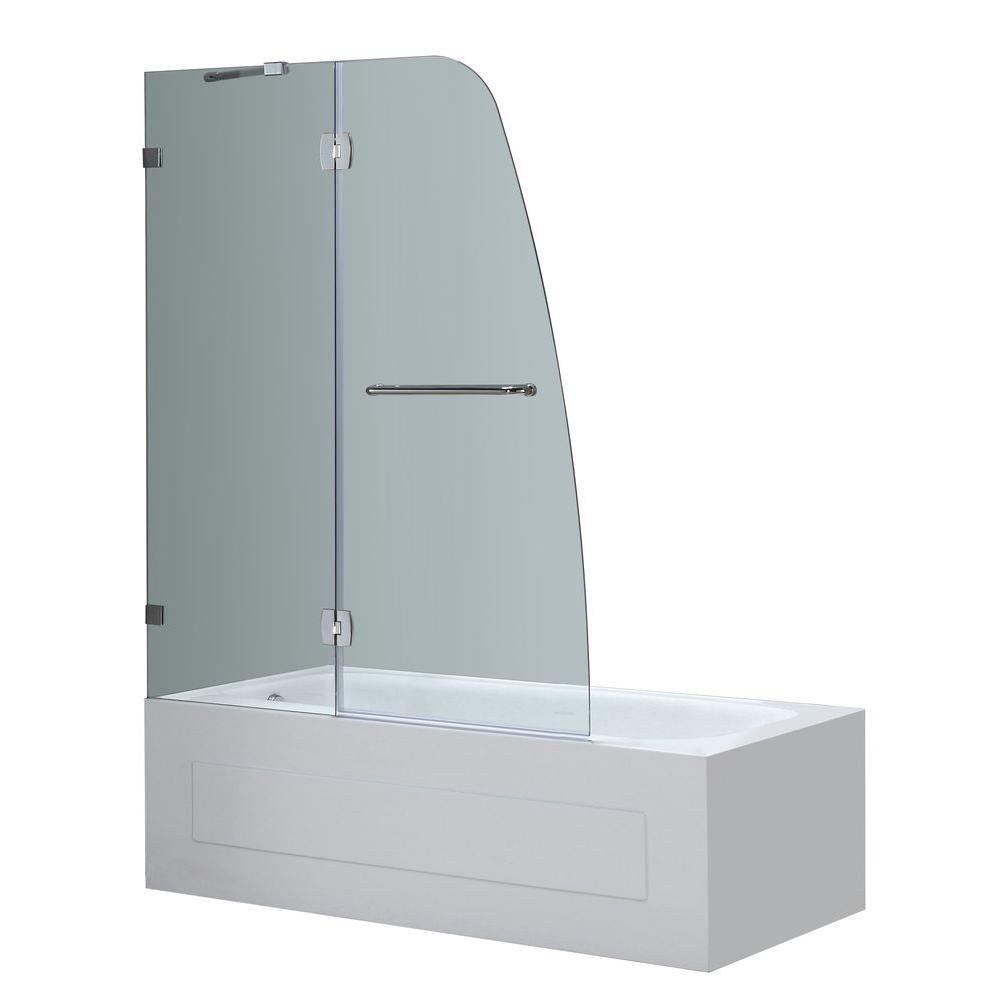 Aston Soleil 48 in. x 58 in. Completely Frameless Hinge Tub Door in ...