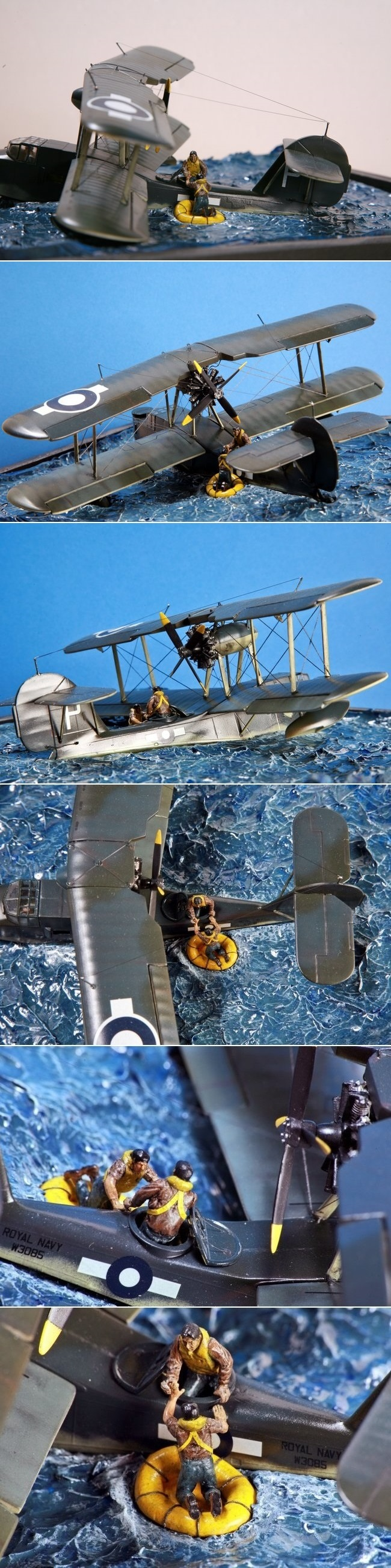 "1/72 Revell/Matchbox Walrus MK.I ""DOWN IN THE DRINK"" by Andrea Cittadini http://www.arcair.com/Gal8/7901-8000/gal7945-Walrus-Cittadini/00.shtm"