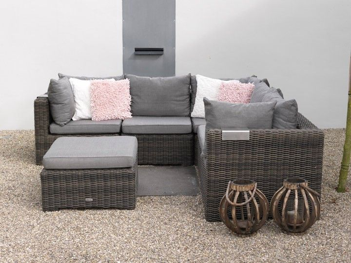 rimini lounge garten loungegruppe 20 teilig exotan poly rattan dunkelgrau braun garten. Black Bedroom Furniture Sets. Home Design Ideas