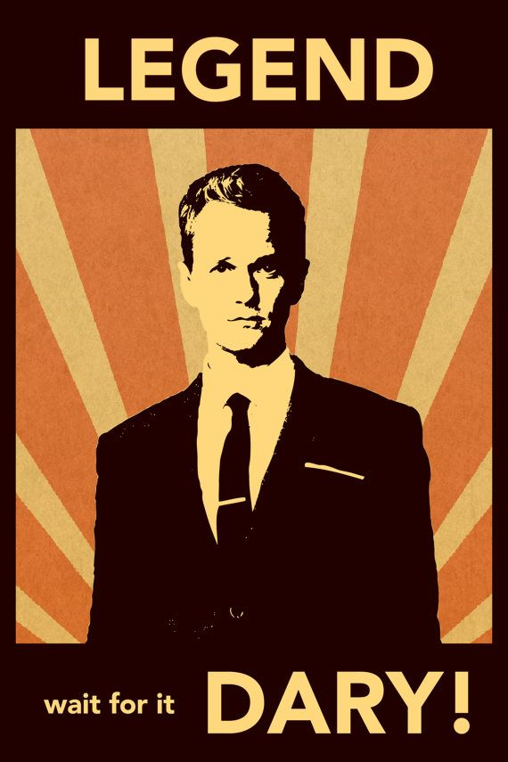 How I Met Your Mother Poster Barney Stinson By Djonesposters My