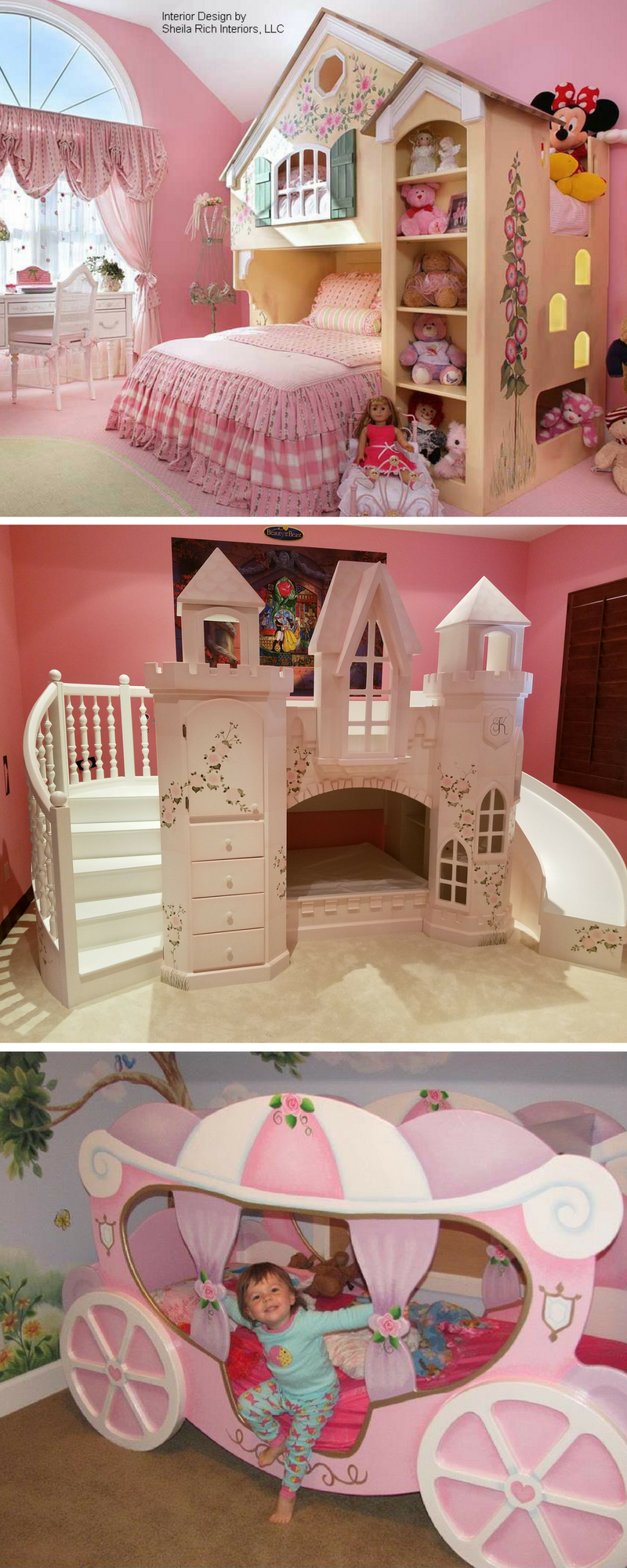 pink kids bed