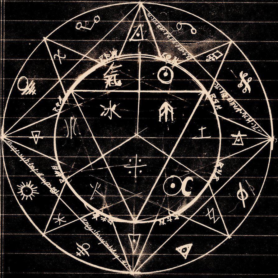 So a pentagram dark pinterest alchemy wheels and symbols idea silk batik designs of sacredancient geometry and symbols alchemy circle by alchemist pac biocorpaavc Images