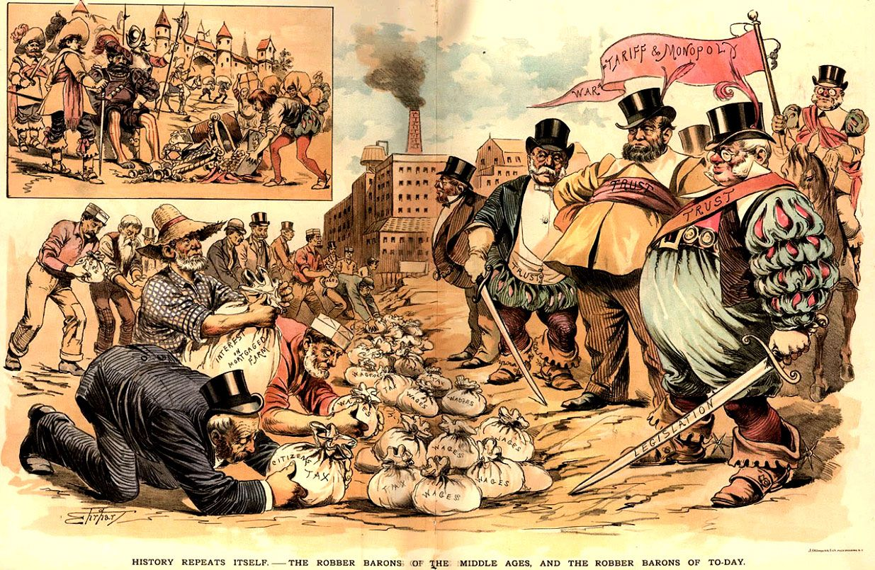 materials robber barons s political cartoon   materials robber barons 1890s political cartoon