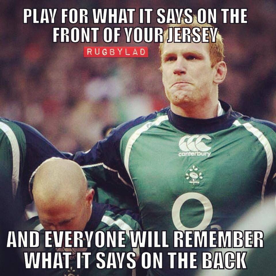 Inspiration Rugby Quotes Rugby Sport Irish Rugby Team