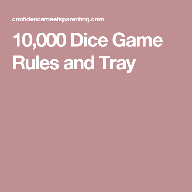 graphic about Printable Dice Games identify 10,000 Cube Sport with Printable Laws Game titles Cube match