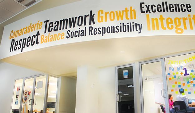 The Power of Mission Statement Walls | Office wall decor ...