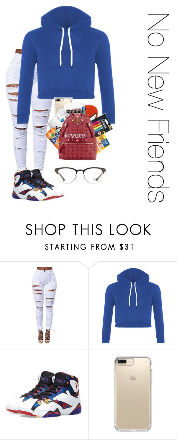 """Untitled #42"" by serena-15 ❤ liked on Polyvore featuring Jordan Brand, Speck and Ray-Ban"