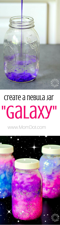 Create a DIY Nebula or Galaxy jar , simple ingrediants for calming jar fun…