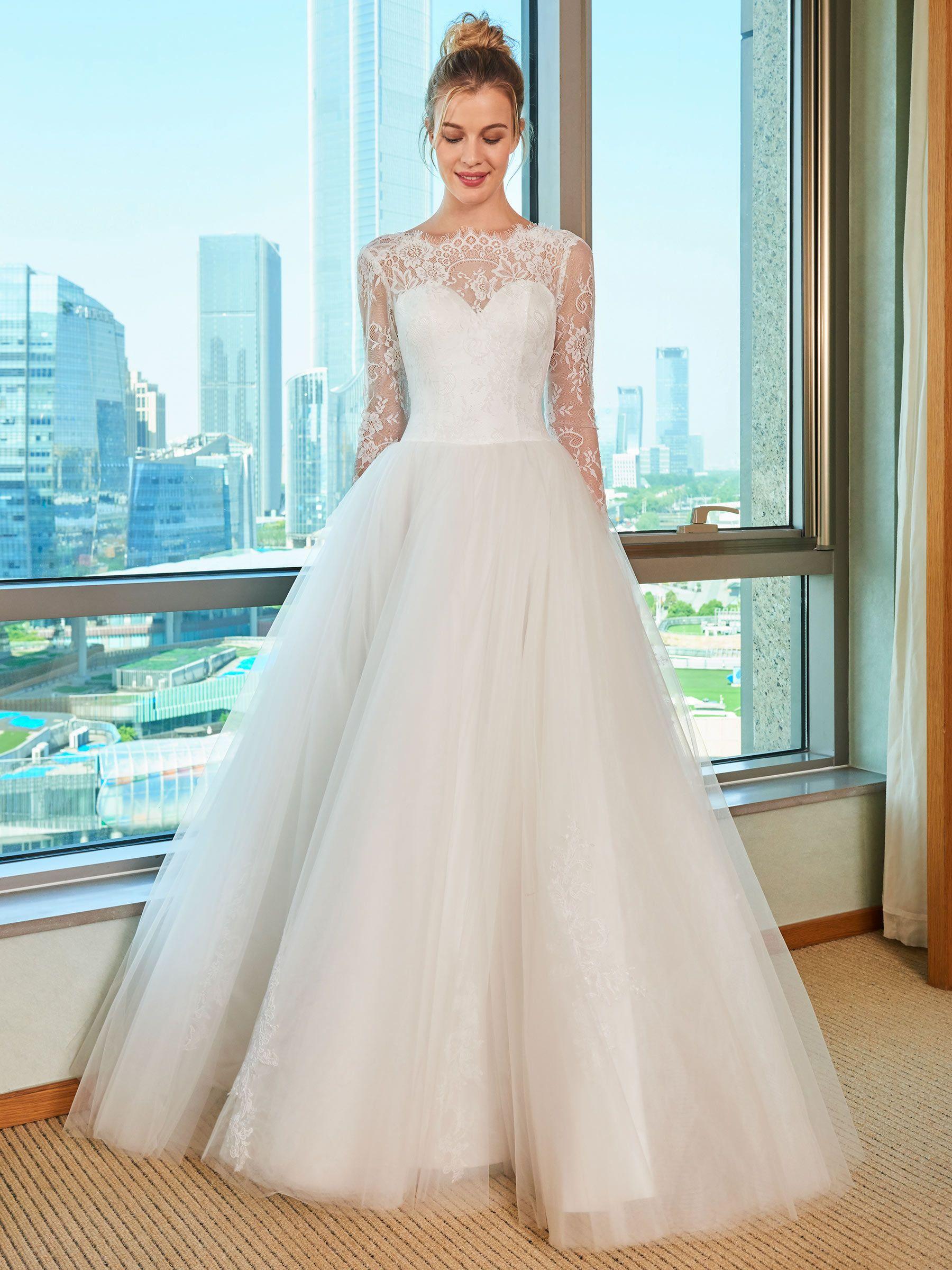 Lace top long sleeve wedding dress wedding dress weddings and wedding