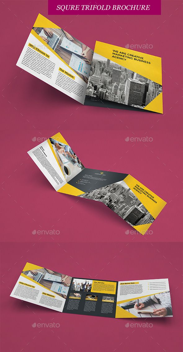 square trifold brochure brochures print templates download here