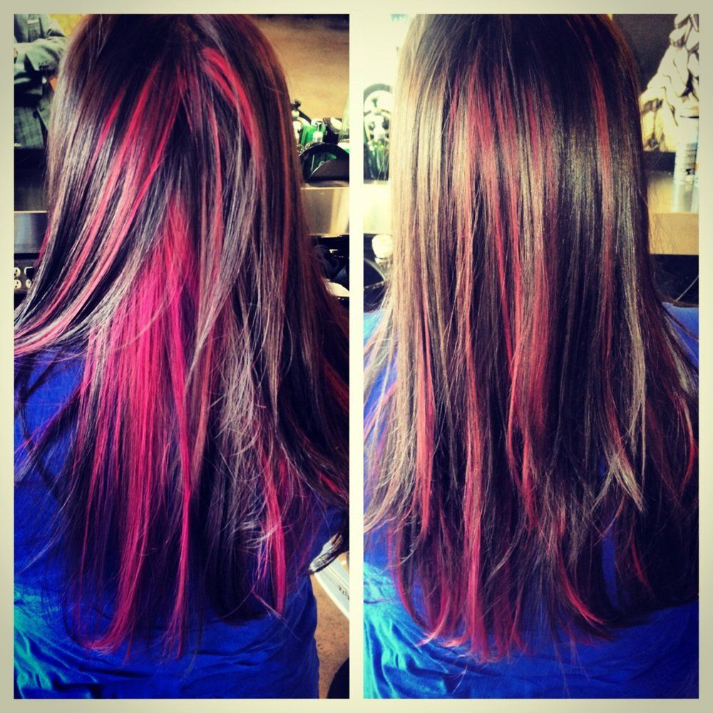 Love the way it mixes in with the natural color hair stuff pink peekaboo highlights by erin brooks pmusecretfo Choice Image