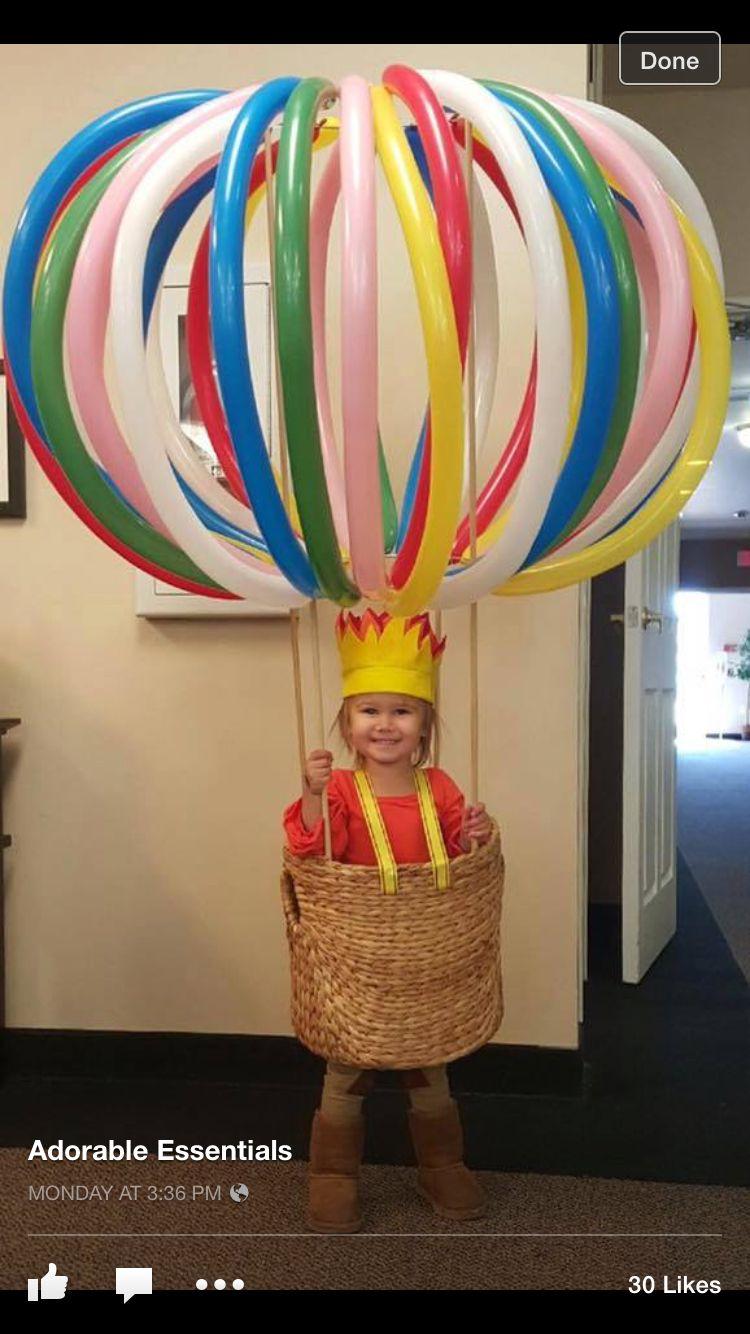 Hot air balloon costume Homemade halloween costumes