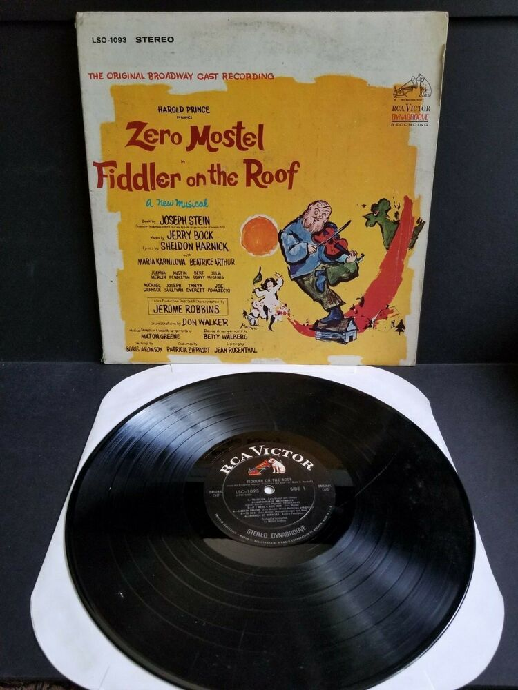 Fiddler On The Roof The Original Broadway Cast Recording