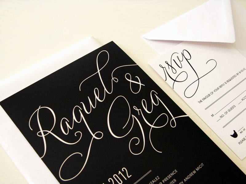 black and pink wedding invites-Real Washington DC Inspired Wedding ...