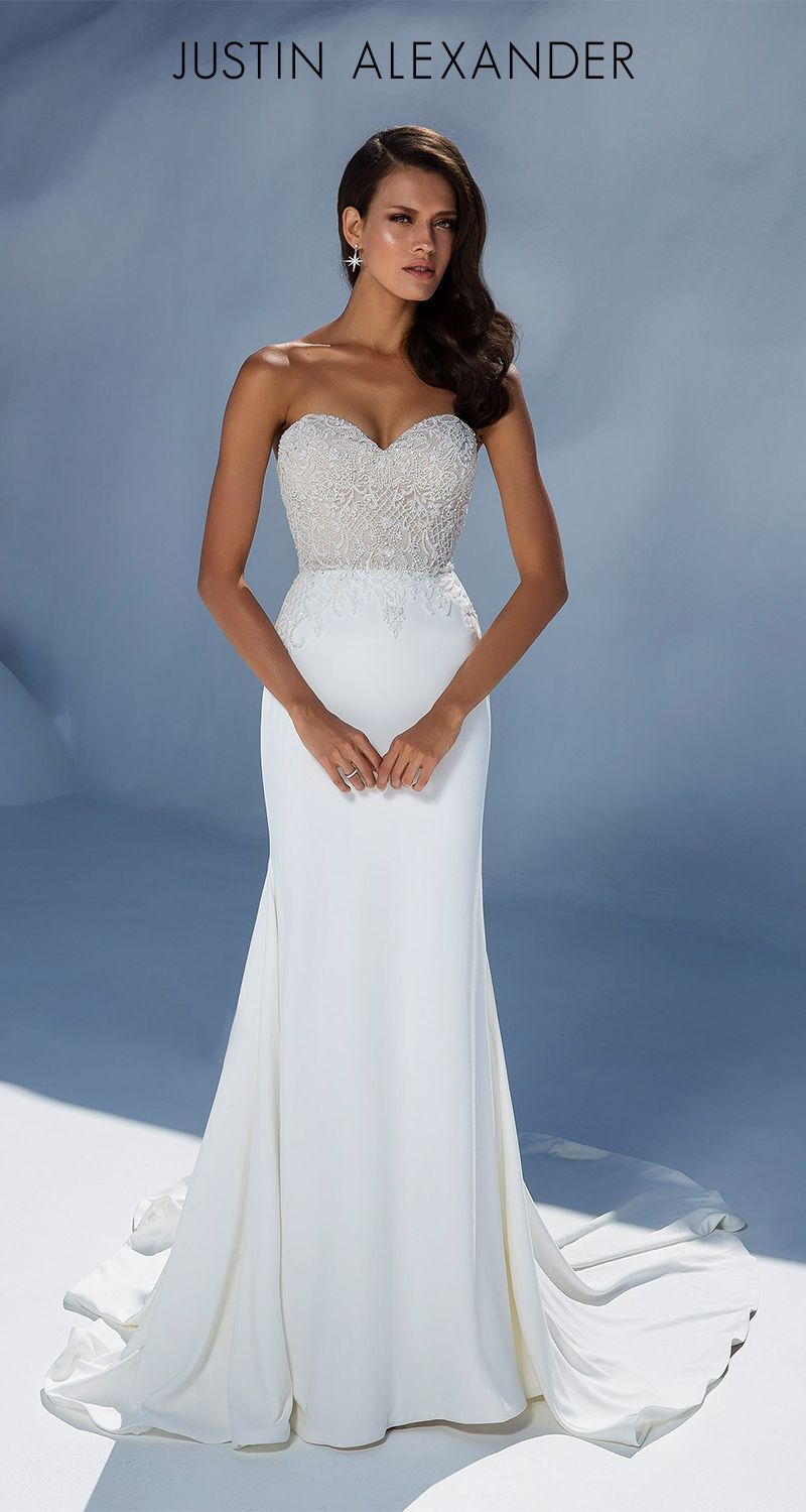 Best beach wedding dresses for guests  Style  Stun your guests in this strapless sweetheart with