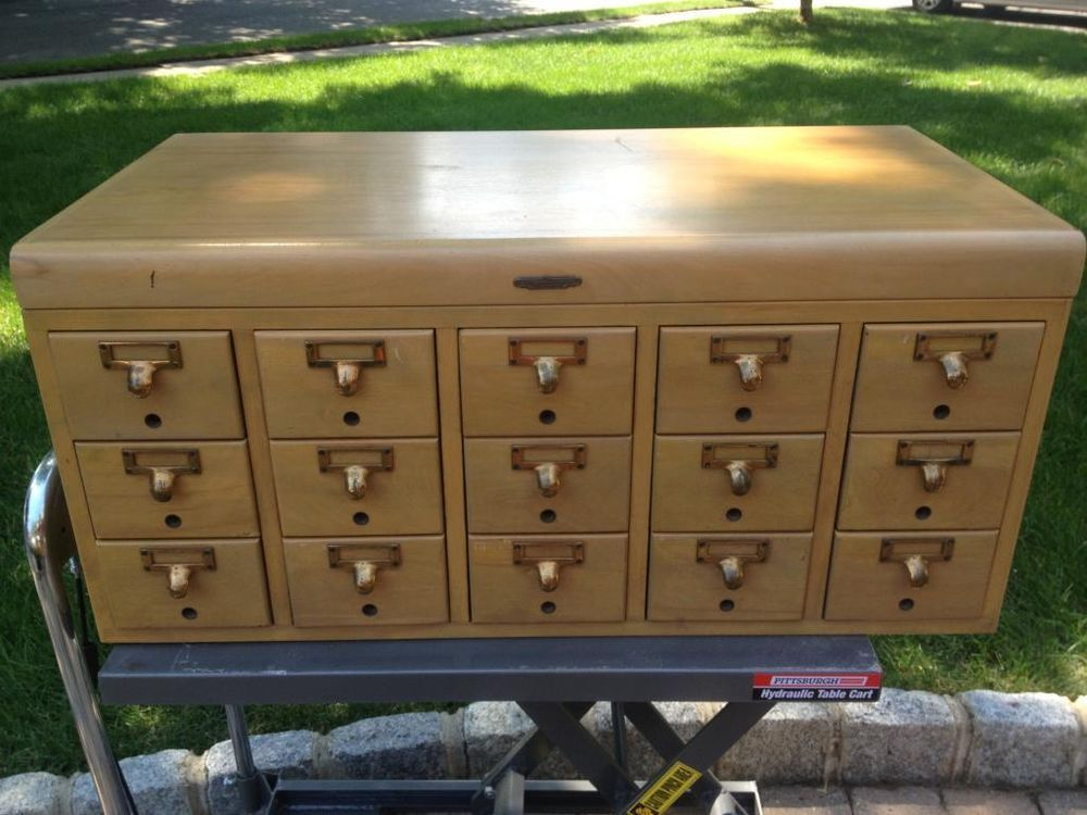 Vintage Midcentury Library Card Catalog Remington Rand Industrial Cabinet Parts #MidCenturyModern #RemingtonRand
