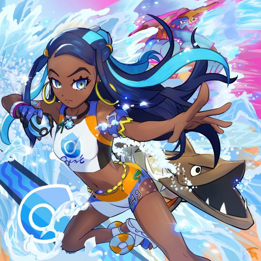 nessa y su pokemon en 2020 Chica anime, Anime, Chicas