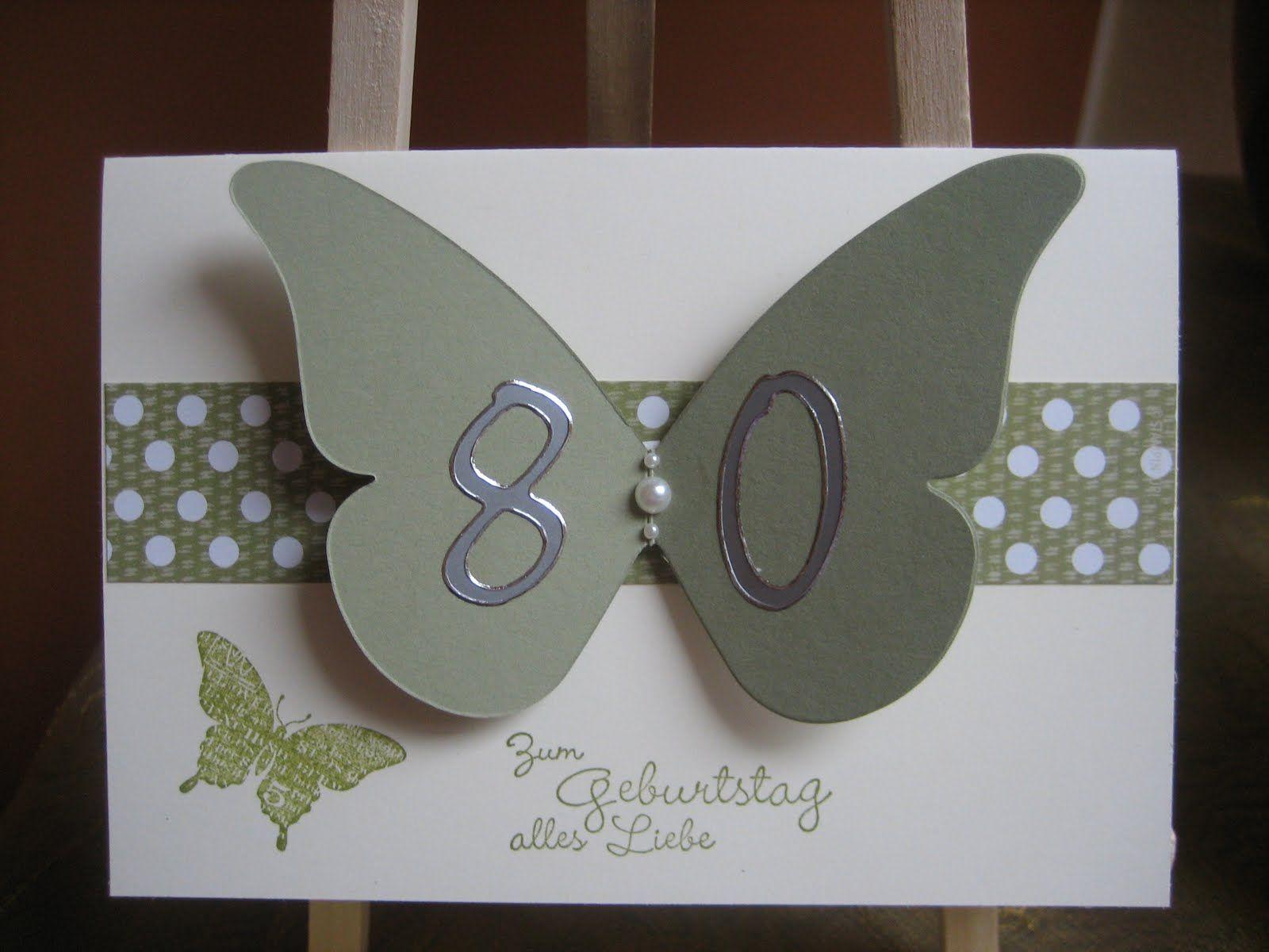 Geburtstagskarten Selber Machen | Ingeborgs Bastelecke: 80. Geburtstag