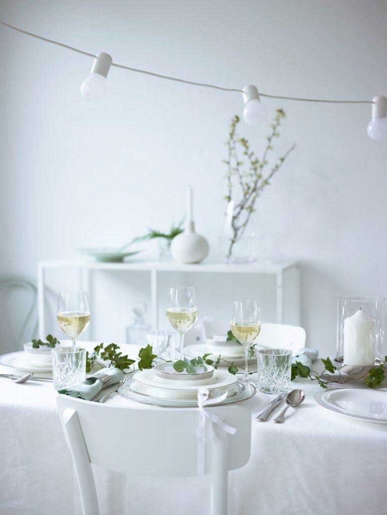 white svartra lights from ikea