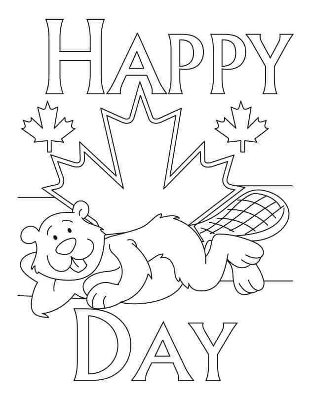 Canadian Flag Printable Coloring Pages