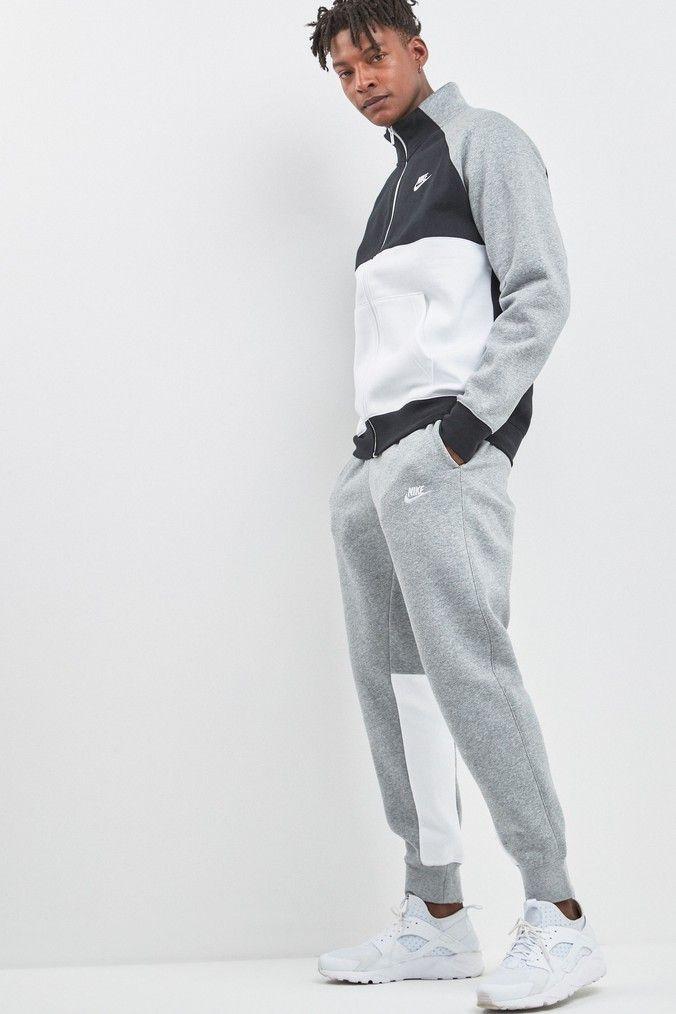 Mens Nike NSW Fleece Tracksuit - Grey