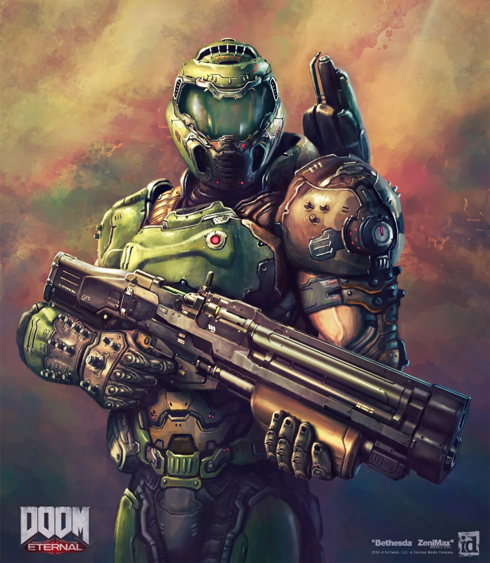 Codexe82 Doom Videogame Doom Slayer