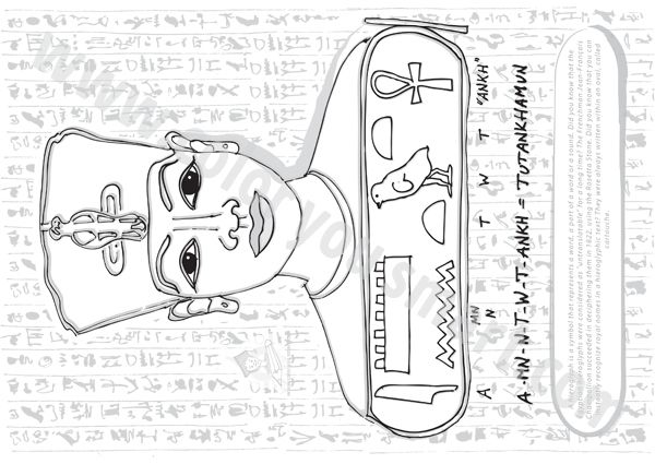 Lovely Hieroglyphics Coloring Pages 57 In Coloring Pages For Kids - Hieroglyphics-coloring-pages