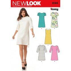 8f54e1af388 Kjole 5 varianter Snitmønster New look easy | Symønstre | Dress ...