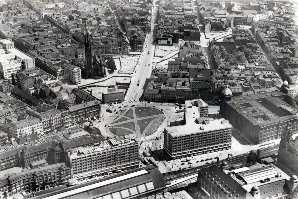 1936 Luftaufnahme Mitte Alexanderplatz Berlin Paris Skyline City