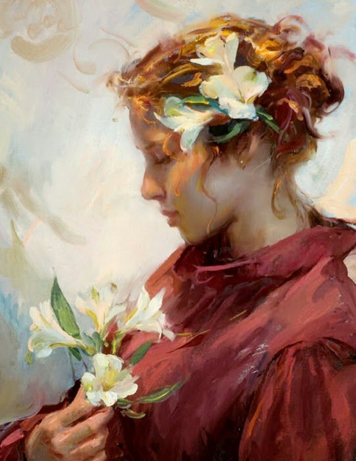 Fine Art and You: Daniel Gerhartz | American Painter | Ladies and Flowers