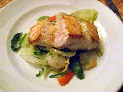 Bacalhau fresco com legumes (Fresh cod with vegetables) - Raquel Carena, Le Baratin