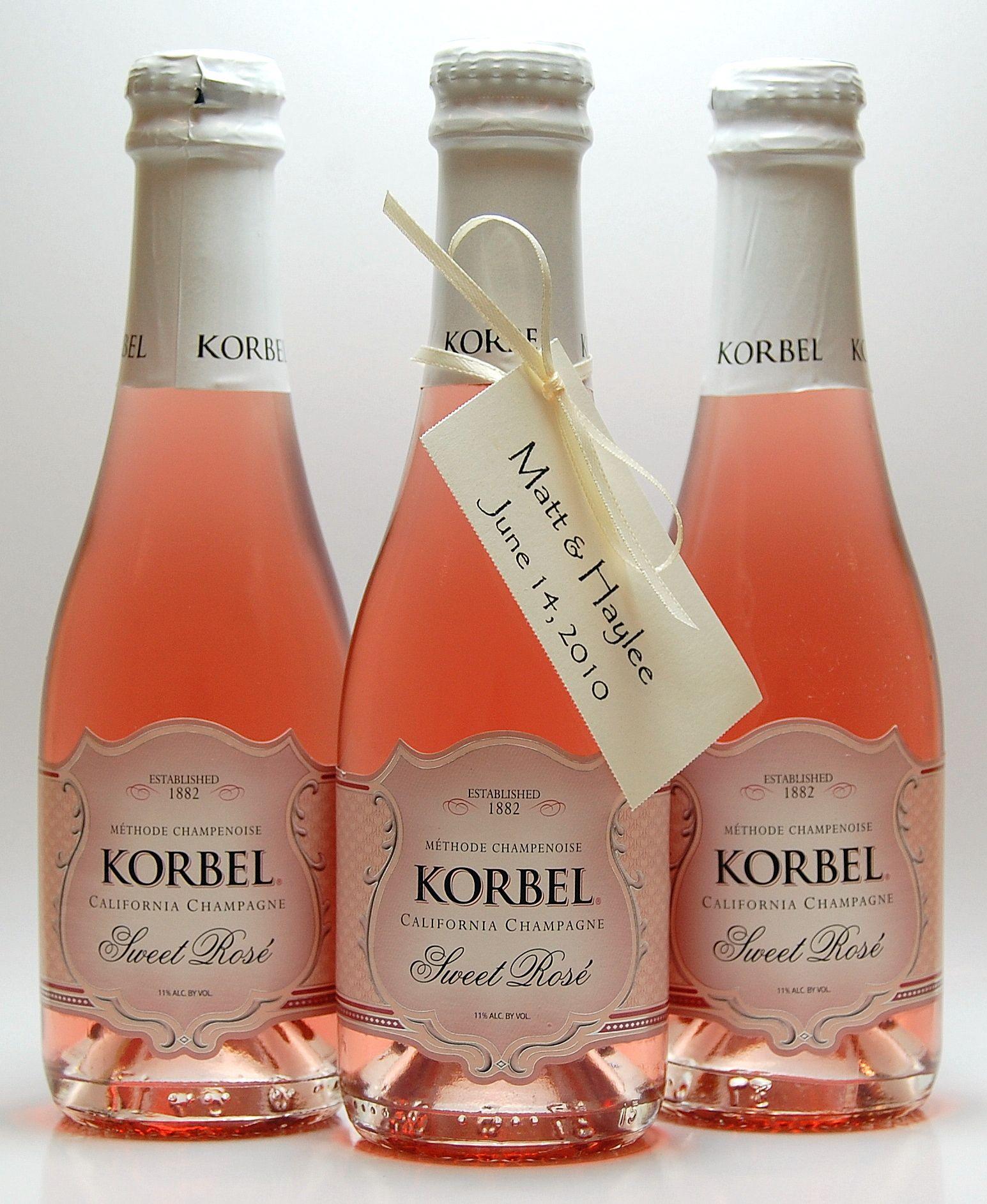Korbel Bridal Shower Champagne Champagne Favors Korbel Champagne